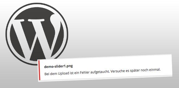 Wordpress Upload Fehler Bild