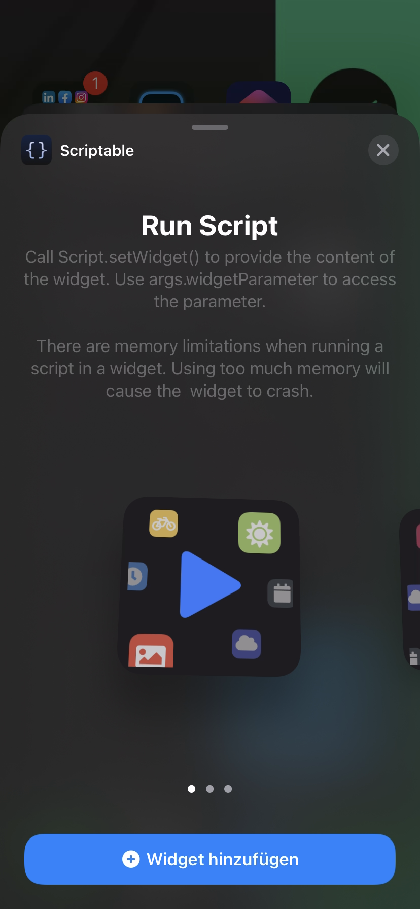 Scriptable iPhone App
