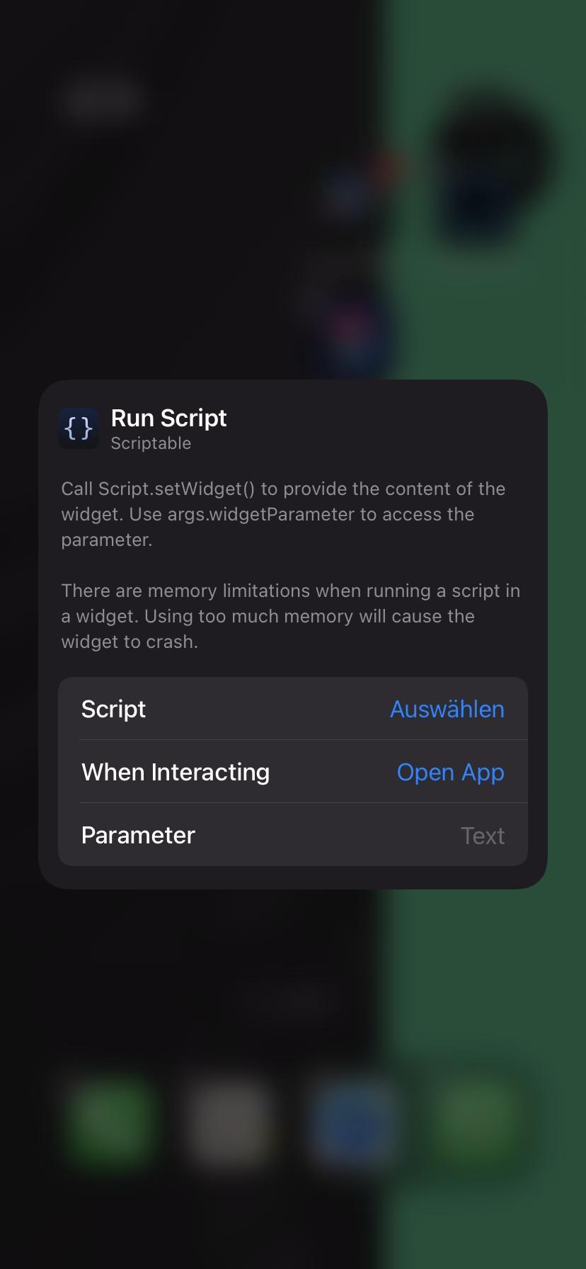 Script für Widget