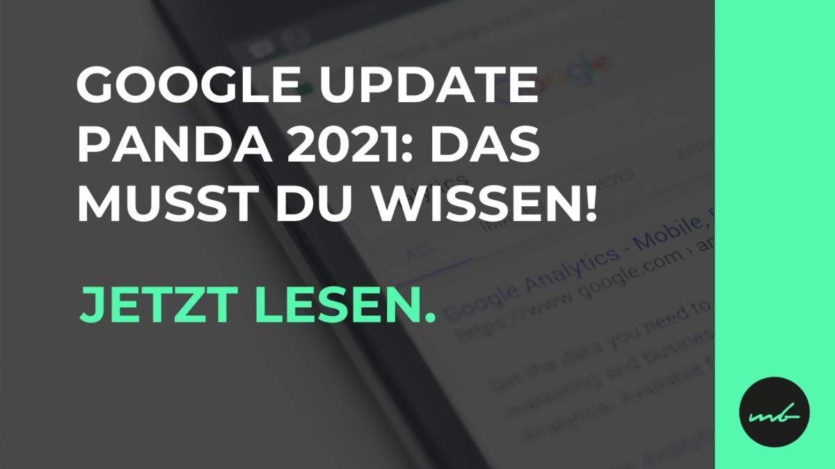 Google Panda Update - Kurz erklärt!