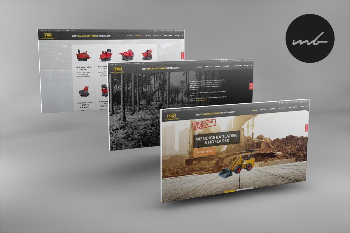 NB Baumaschinen Webdesign Eggendelden
